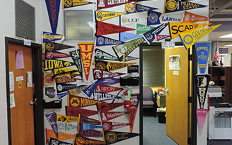 The guidance and counseling offices have flags from multiple colleges that visit North to meet with interested students. Students interested in being prepared for a visiting college are encouraged to attend college night on Oct. 18 at 6 p.m.