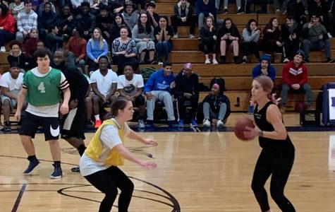 Staff Gains Second Victory In Annual Basketball Game