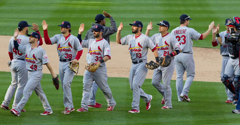 On October 10, 2012, the St. Louis Cardinals congratulate each other after defeating the Washington Nationals 8-0 in the playoffs. 2012 was the heart of the Cardinals' recent success, and now, they strive to return to that form.