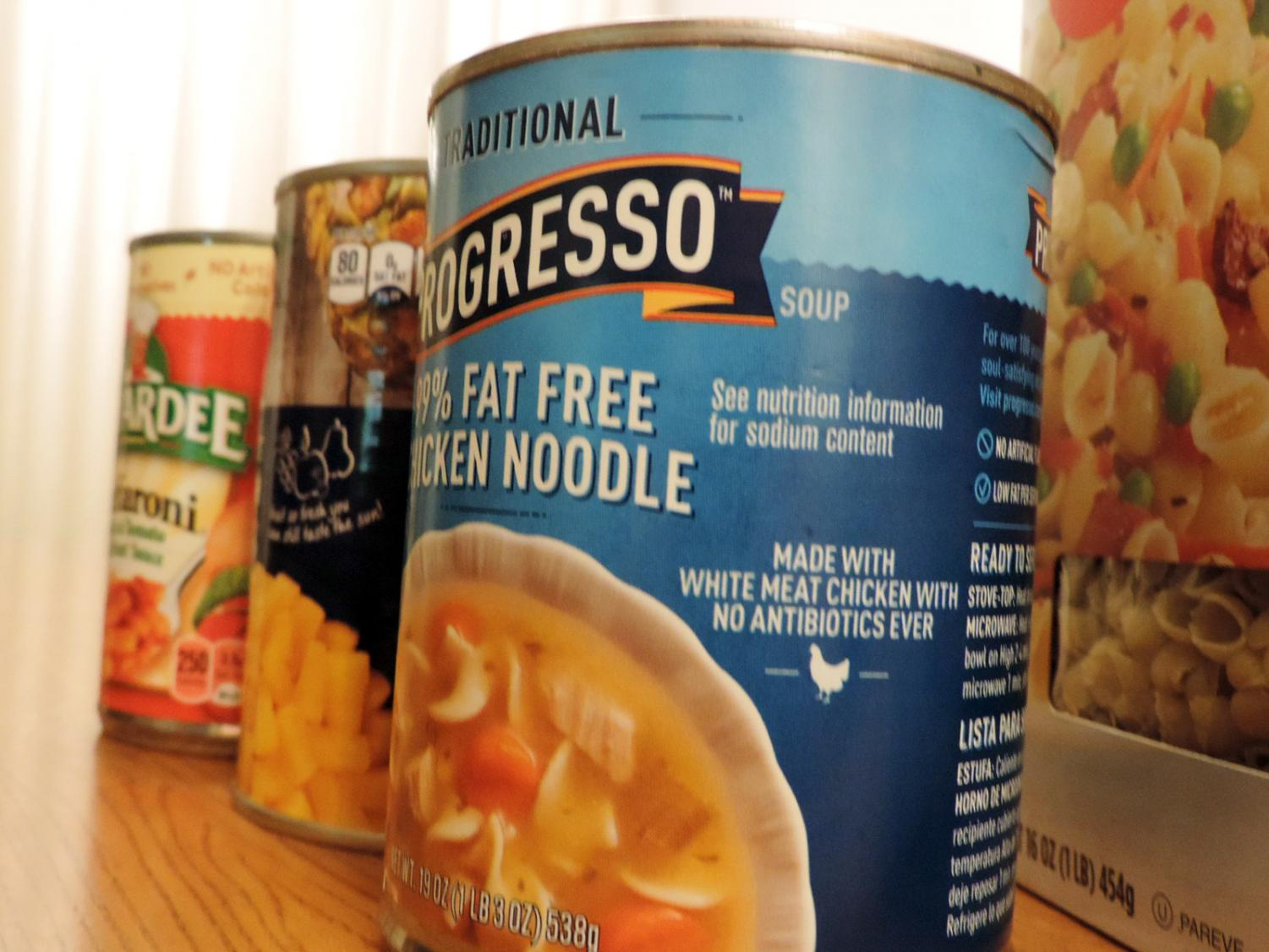 """On Nov. 3, ITS members organized the canned food collected from ac labs and door to door trick-or-treating. """"Just knowing that we're providing [less fortunate] people with food is very heartwarming,"""" said James."""