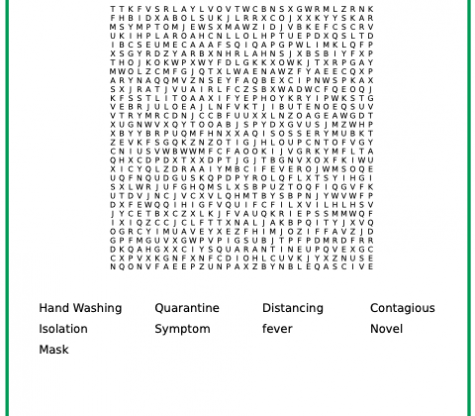 COVID word search