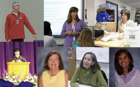 Chris Frankenfield, Dr. Karen LaFever, Donna Dulin, Paul Arthur, Marlene Zitza, Lorrie Crossett and Dr. Lynn Elliot are all retiring after this school year.