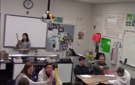 """Kramer submitted a video of a lesson to qualify for the 2019 Presidential Excellence Award in Mathematics and Science Teaching. In the lesson, students would study and notice patterns in the sound waves of different musical instruments. """"I had to cover wavelength frequency and the speed of sound, so instead of just saying what the equation is, I tied it in with musical instruments,"""" said Kramer."""