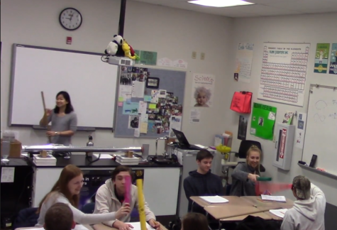 "Kramer submitted a video of a lesson to qualify for the 2019 Presidential Excellence Award in Mathematics and Science Teaching. In the lesson, students would study and notice patterns in the sound waves of different musical instruments. ""I had to cover wavelength frequency and the speed of sound, so instead of just saying what the equation is, I tied it in with musical instruments,"" said Kramer."
