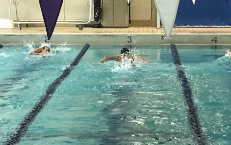While the North swim team practices for their Sept. 14 meet, the swimmers are usually at least four feet away from each other. Once in the pool, there is very little danger of the virus spreading from person to person. A virus needs a host to live on, and with the chlorine killing most possible hosts to the virus, it will simply die in the pool.