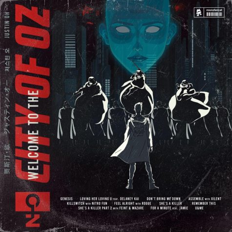 """Welcome to the City of OZ"" presents a unique art style throughout the lyrics and the music videos. Such as the one on the album cover, Justin Oh expresses his thoughts and feelings in unorthodox ways."