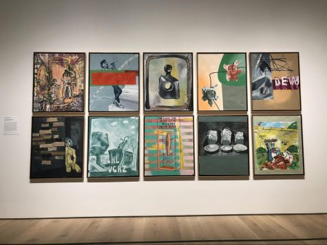 "Works by George Baselitz, A.R. Penck, and Franz West can be viewed as part of the latest exhibit, ""Storm of Progress: German Art After 1800"" at the Saint Louis Art Museum running now until Feb. 28.  A major portion of the exhibit and the name of it as well, was inspired by German Jewish cultural theorist Walter Benjamin, who imagined history as a powerful storm that would launch humanity into an uncertain future. Facts like these and more were displayed on the white walls all around the exhibit."