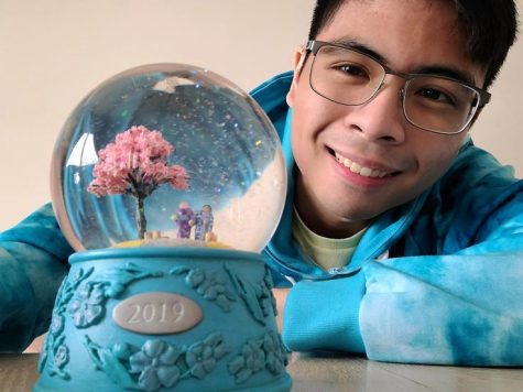 "Senior Matthew Villamayor created a snowglobe for a couple in California. Villamayor felt a bit worried but proud at the outcome since it was his first creation to leave his possession. ""My art always has a little bit of my life in them. They represent my feelings or even my experiences,"" said Villamayor."