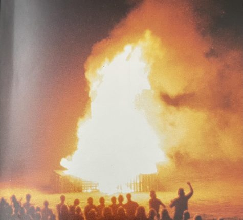 Up until 1989, Parkway North had the tradition of burning a giant bonfire out on the football field. However, the fire department considered it a fire hazard and the tradition stopped. Some of the bonfires, like this one from 1980, reached several stories high.
