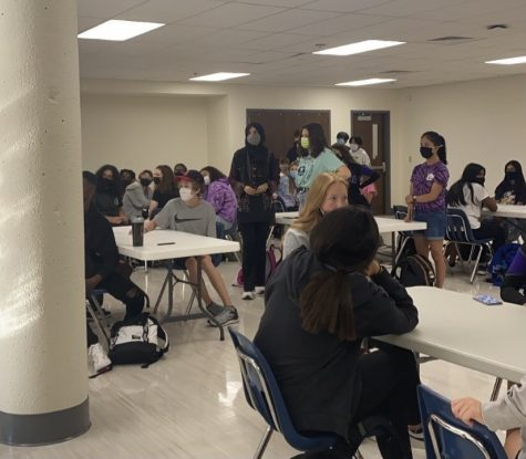 """Student Council gathers to plan Homecoming which will begin on Oct. 1. """"I hope that people come out and have a good time,"""" said Student Council sponsor Bob McKitrick. """"Let's rock and roll and do this."""""""