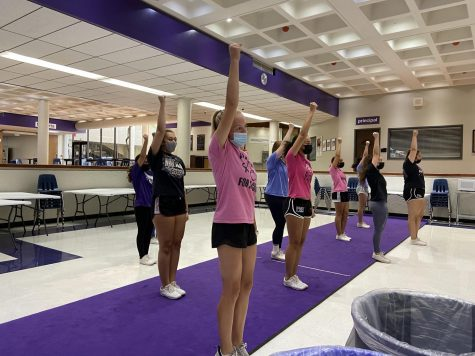 After school, varsity cheer rehearses their choreography in preparation for football games, pep rallies and Homecoming. During home games, cheer, color guard, the Vikettes and marching band perform in the commons that morning, a tradition just returning to North with the pandemic.